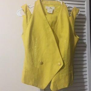 Escada Linen vest with Niño skirt